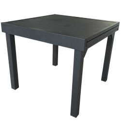 TABLE FULL ALU GRIS 4-8 FERMEE